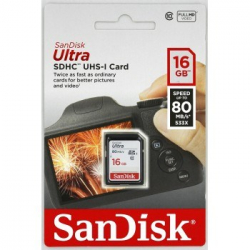 Sandisk Ultra SDHC 16 GB 80 MB/s Class 10 UHS-I