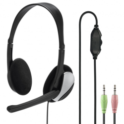 Hama PC Office stereo headset HS-P100, čierny